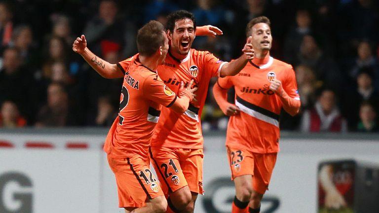 Dani Parejo: Celebrates goal for Valencia