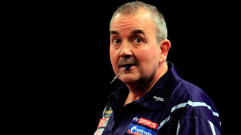 Phil Taylor celebrates another win