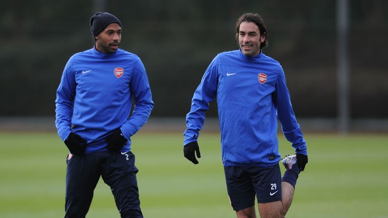 Thierry Henry (left) and Robert Pires have been training with Arsenal