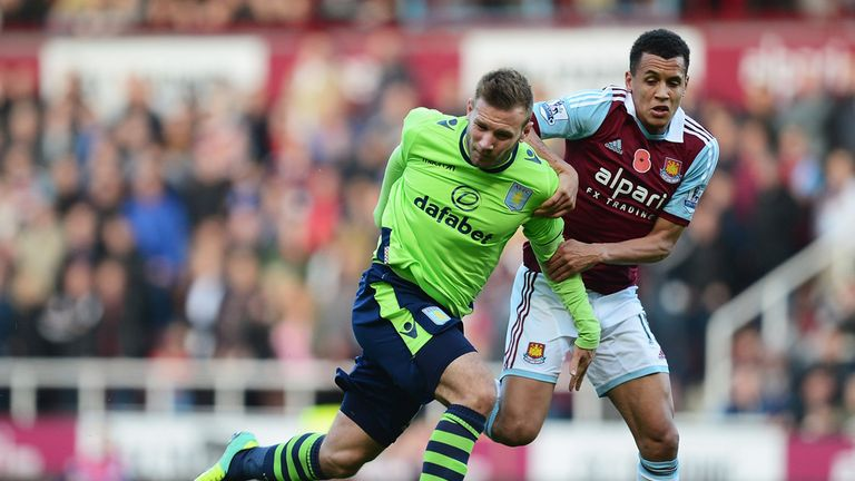 Aston Villa and West Ham fought to a goalless draw