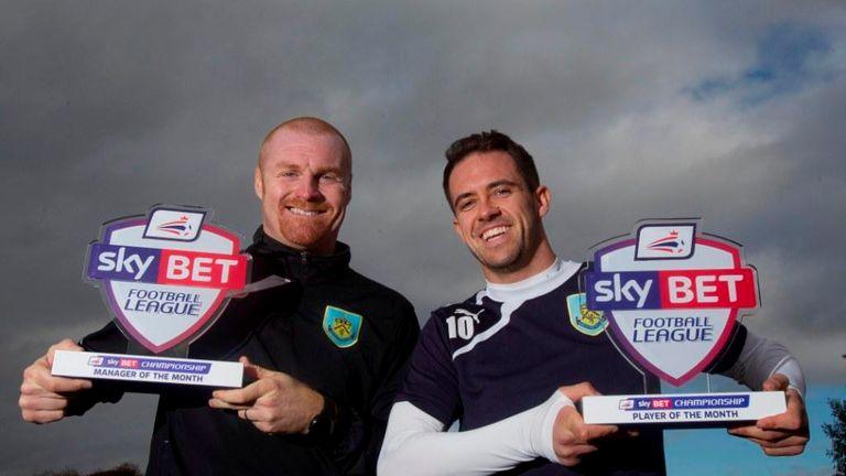 Sean Dyche and Danny Ings: Burnley pair show off their awards