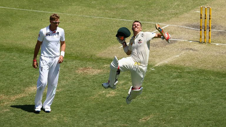 David Warner: Australia opener had plenty to say after day three century