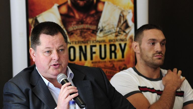Promoter Mick Hennessy and undefated heavyweight Tyson Fury