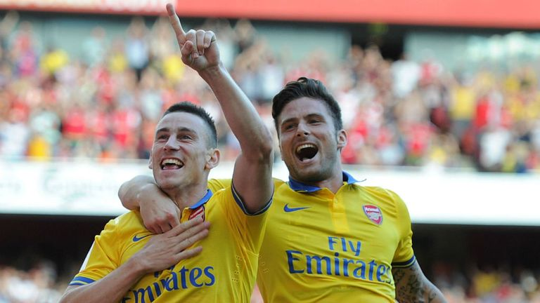 Laurent Koscielny: Has seen Olivier Giroud lead the Arsenal line single-handedly