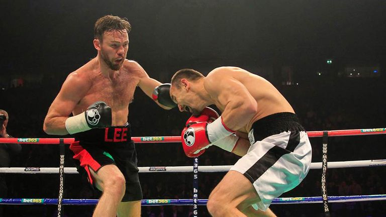 Andy Lee (L) in action recently (Pic Lawrence Lustig)