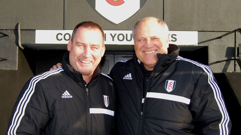 Rene Meulensteen (left): Appointed head coach alongside Martin Jol