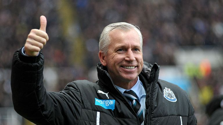 Alan Pardew: Newcastle boss has played down Champions League talk
