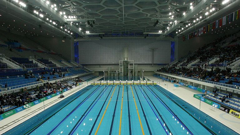 London 2012 organisers say olympic park swimming pools demonstrate games legacy olympics news for Olympic swimming pool pictures