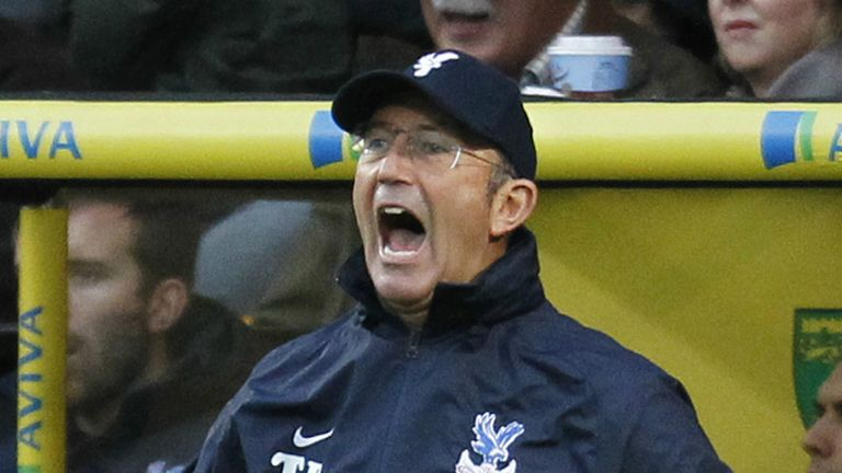 Tony Pulis: Infuriated by Crystal Palace's missed chances