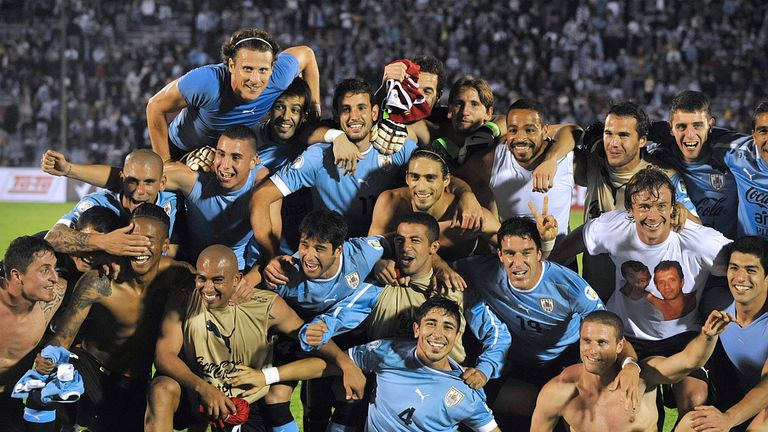 Uruguay: Celebrating World Cup qualification