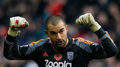 Boaz Myhill: Hoping to keep Ben Foster out of Baggies team