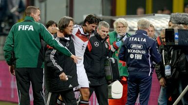 Sami Khedira: Carried off against Italy and is set to miss the rest of the season