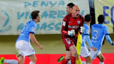 Willy Caballero: Malaga goalkeeper happy where he is