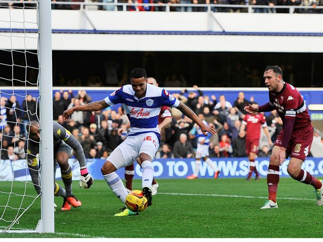 Jermaine Jenas scores for QPR.