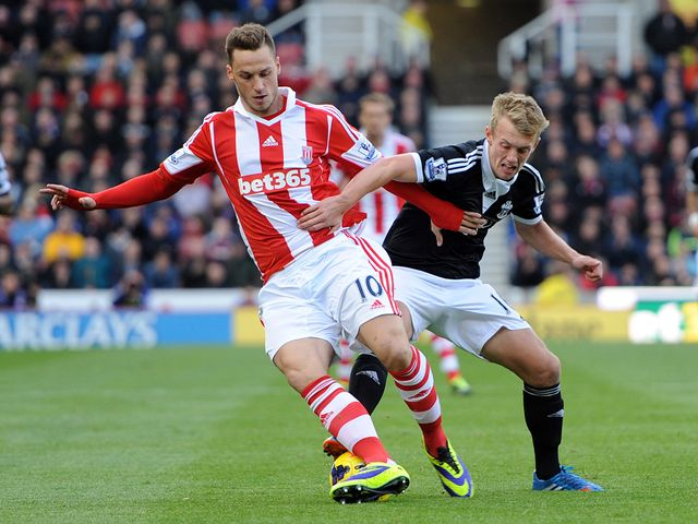 Arnautovic tries to avoid Ward-Prowse