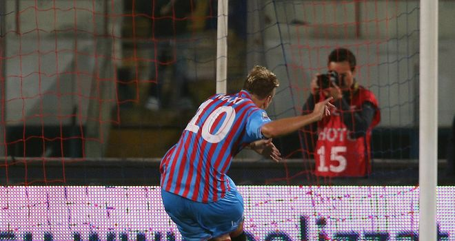 Maxi Lopez scored from the penalty spot