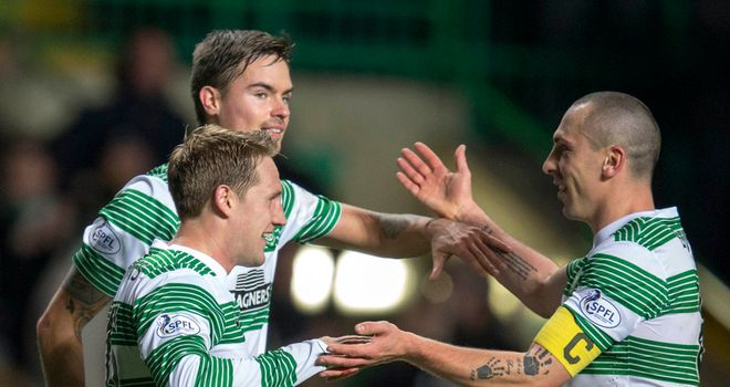 Kris Commons: On the double as Celtic break Aberdeen hearts