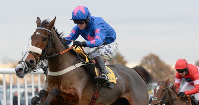 Cue Card produced a fine round of jumping in front