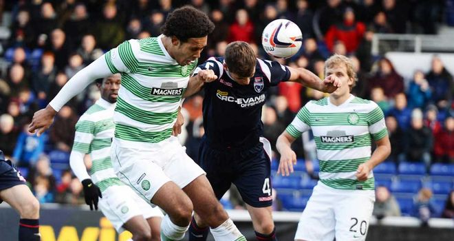 Virgil van Dijk: Scores his second goal as Celtic beat Ross County 4-1
