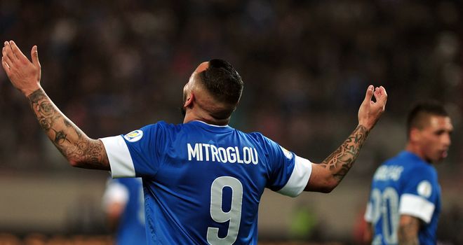 Kostas Mitroglou was on target again for Greece