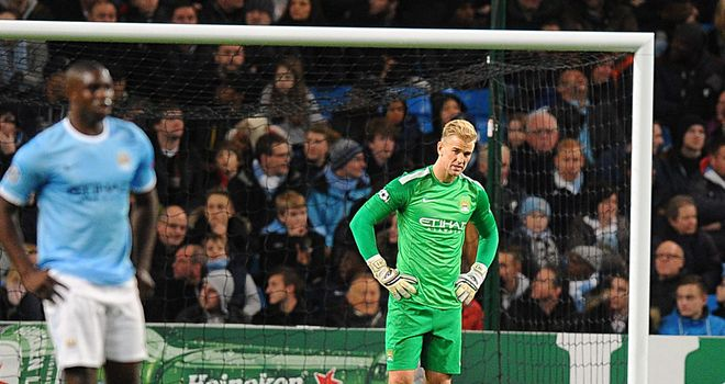 Joe Hart was not given the protection he required from City's defenders at the Etihad