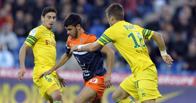 Morgan Sanson in action for Montpellier.