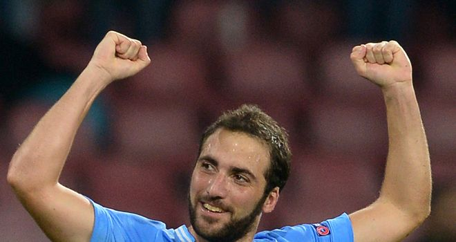 Gonzalo Higuain: Notched brace to down Marseille