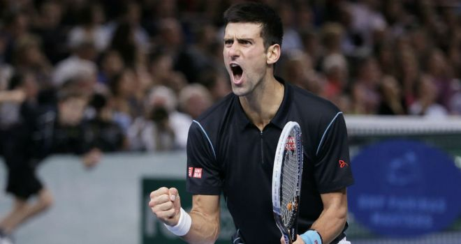 Novak Djokovic: Fought hard to overcome David Ferrer in Paris