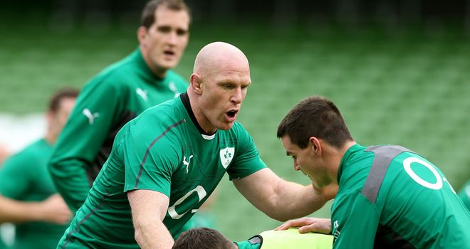 Paul O'Connell: Ireland skipper partners 6ft 11in Devin Toner in the second row