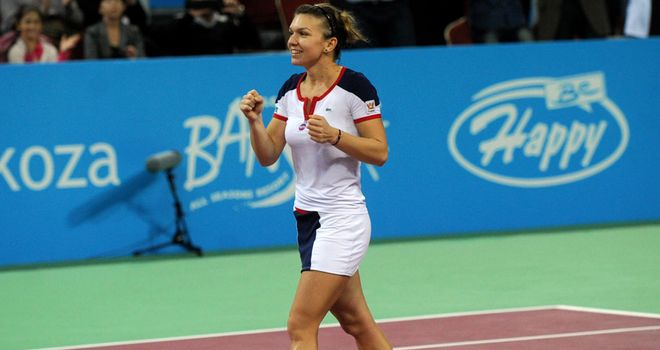 Simona Halep celebrates her sixth title of 2013 - this time in Sofia