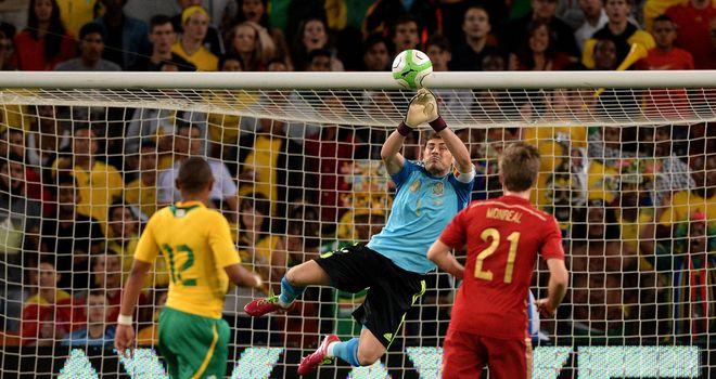 Iker Casillas: Was made to toil as South Africa surprised Spain