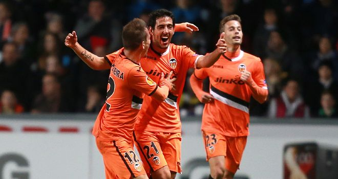 Dani Parejo: Celebrates goal for Valencia