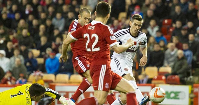 Jamie Walker: Scores the equaliser for Hearts in their win at Aberdeen