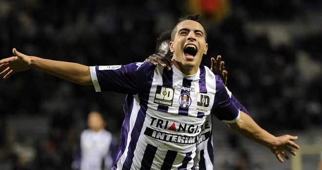 Wissam Ben Yedder: Celebrates for Toulouse