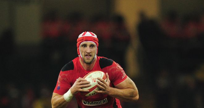 Luke Charteris: Ruled out of England clash