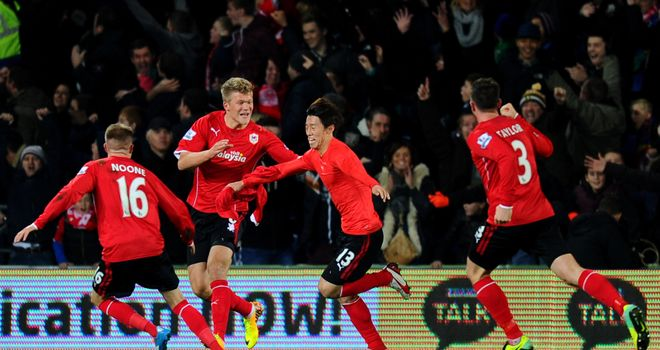 Kim Bo-kyung: Celebrates with team-mates after scoring equaliser