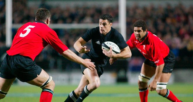 Dan Carter made his debut at inside centre against Wales as a 21-year-old