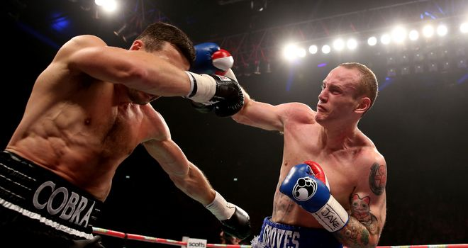 George Groves (R): Hopes he will get a second fight with Carl Froch
