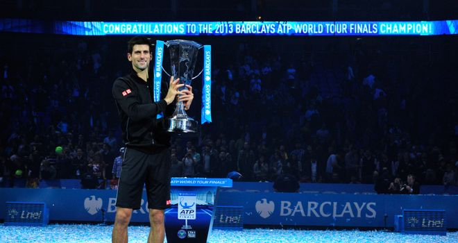 Novak Djokovic: Took home the ATP World Tour Finals trophy for the second straight year