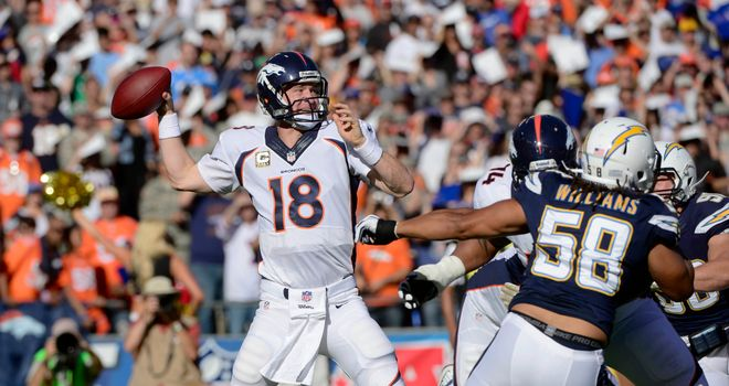 Peyton Manning: Throw four touchdown passes against San Diego