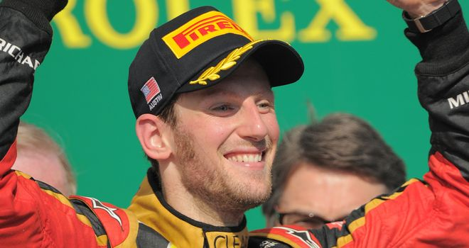 Romain Grosjean: Six podium finishes in 2013