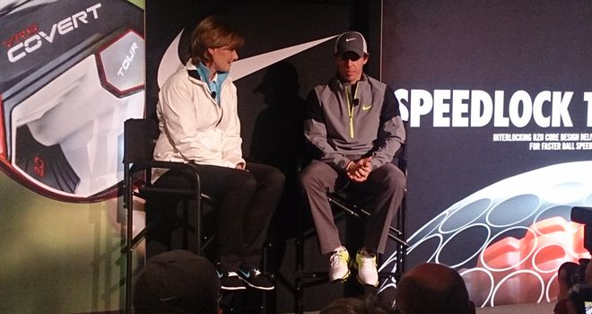 Rory McIlroy with Nike Golf boss Cindy Davis