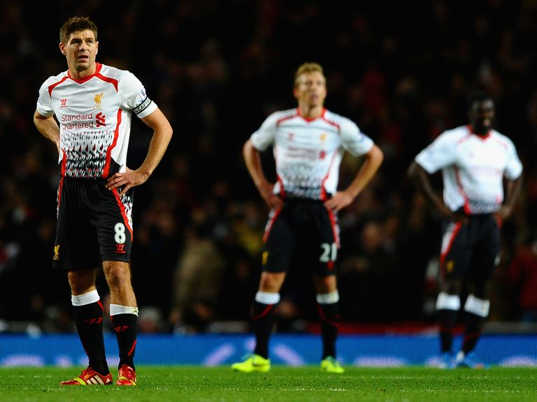 Frustration for Liverpool in the defeat at Arsenal.