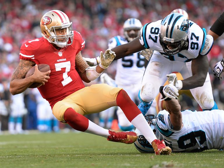 Colin Kaepernick was shackled by the Panthers' defence