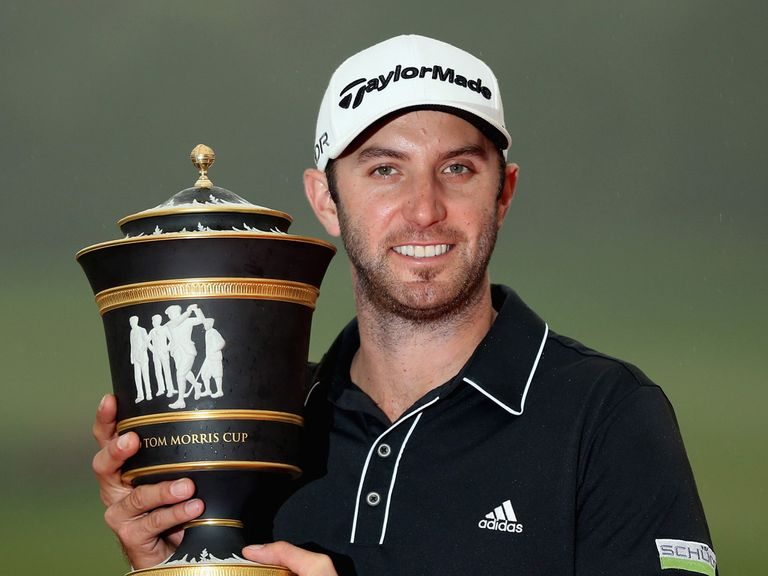 Dustin Johnson picks up the trophy in Shanghai at 40/1