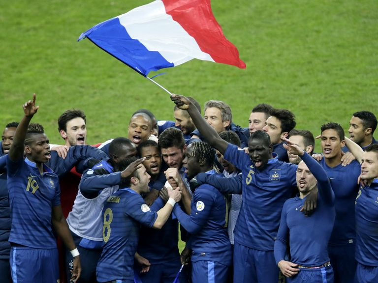 France celebrate their win