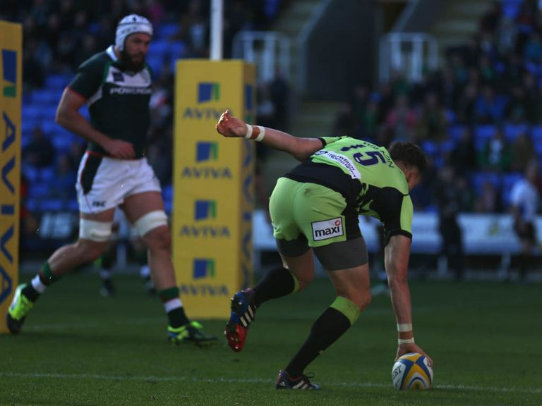 James Wilson goes in for a Northampton try