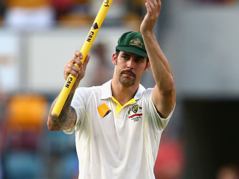 England have struggled to deal with Mitchell Johnson's pace