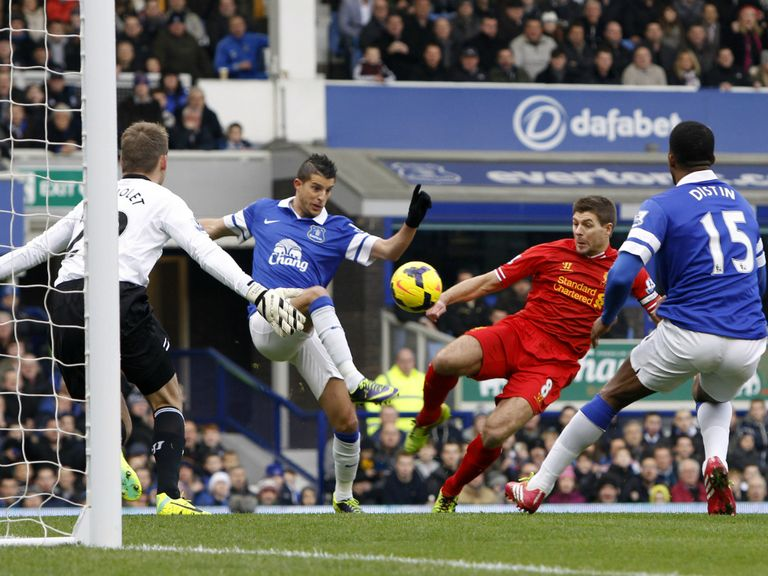 Everton and Liverpool: Drew at Goodison earlier this season
