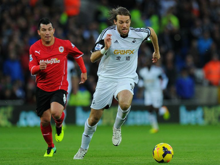 Michu: Substituted in the second half of Swansea's defeat to Cardiff
